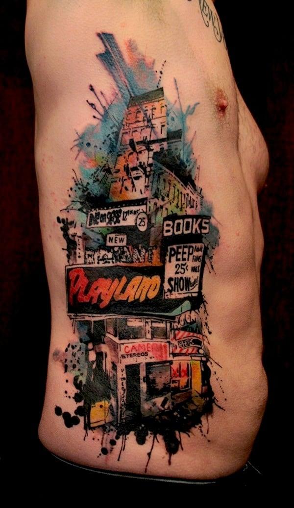 Thrilling_Tattoos_inspired_by_Streetart_Stencils_Watercolor_Art_2014_02