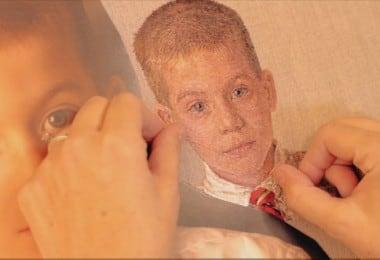 Realistic Embroidered Portraits by Cayce Zavaglia 8