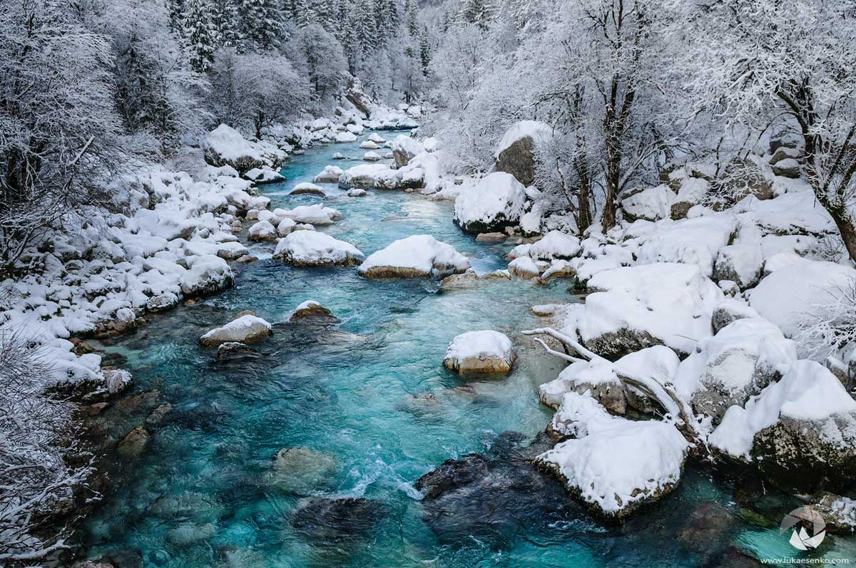 Soca, the most beautiful river in Slovenia