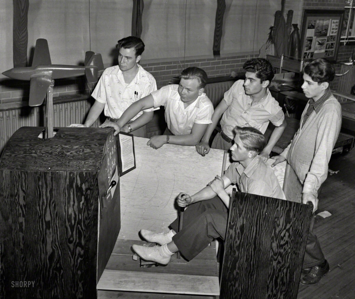 A flight simulator in 1942
