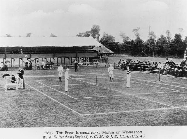The first international match at Wimbledon