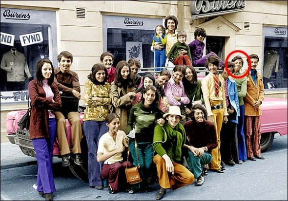 Osama bin Laden with his family visiting Falun in Sweden in 70′
