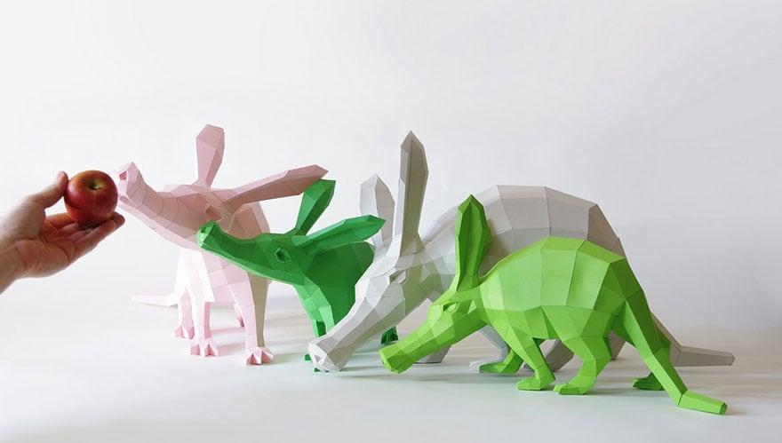 Wolfram-Kampffmeyer-DIY-Paper-Animal-Sculptures-3