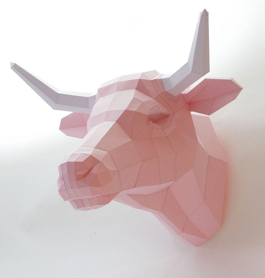 Wolfram-Kampffmeyer-DIY-Paper-Animal-Sculptures-4