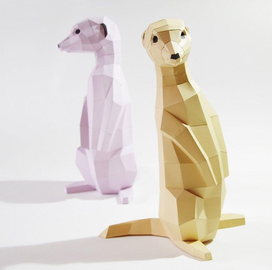 Wolfram-Kampffmeyer-DIY-Paper-Animal-Sculptures-6