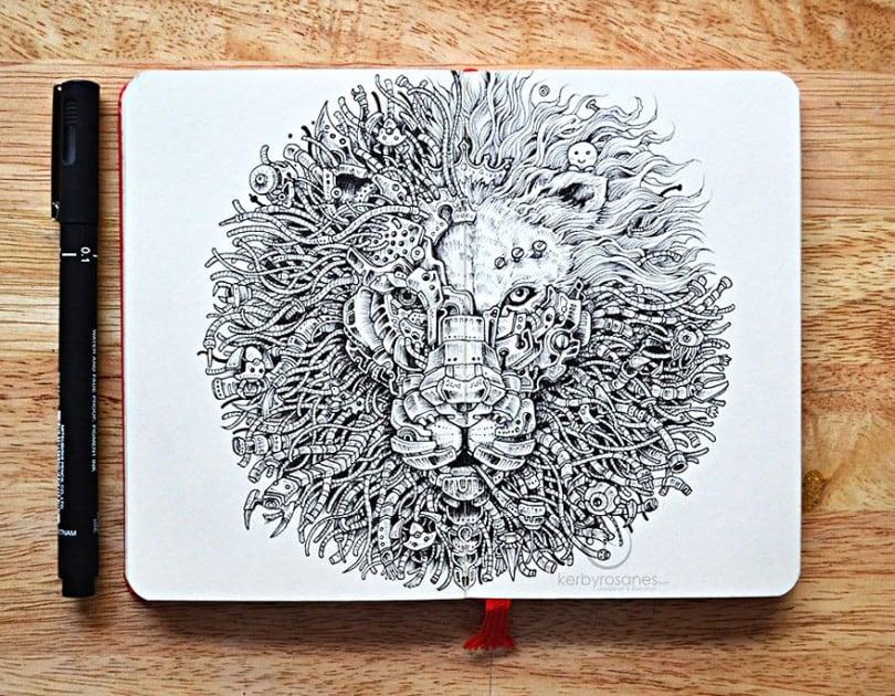 Incredible Pen Drawings by Kerby Rosanes 1