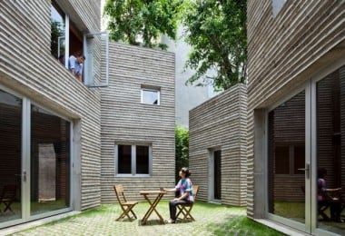 Trees Grow On Rooftops Of Vietnam House By Vo Trong Nghia Architects 3