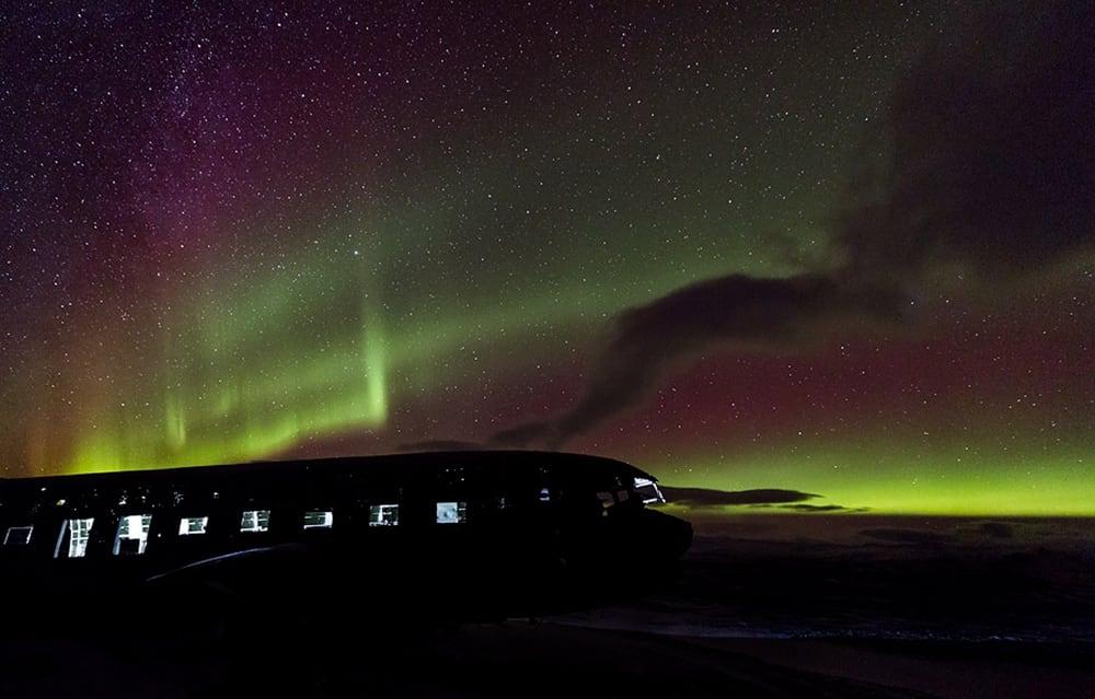 Northern Lights in Sólheimasandur