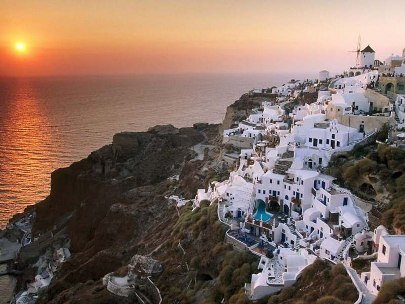Santorini Greece Top 15 Most Stunning Cliff Side Towns And Villages