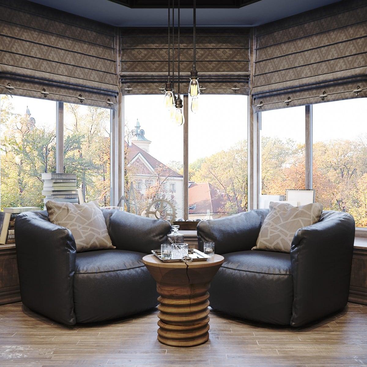 Vintage office for a private residence Denis Krasikov - www.homeworlddesign. com (5)