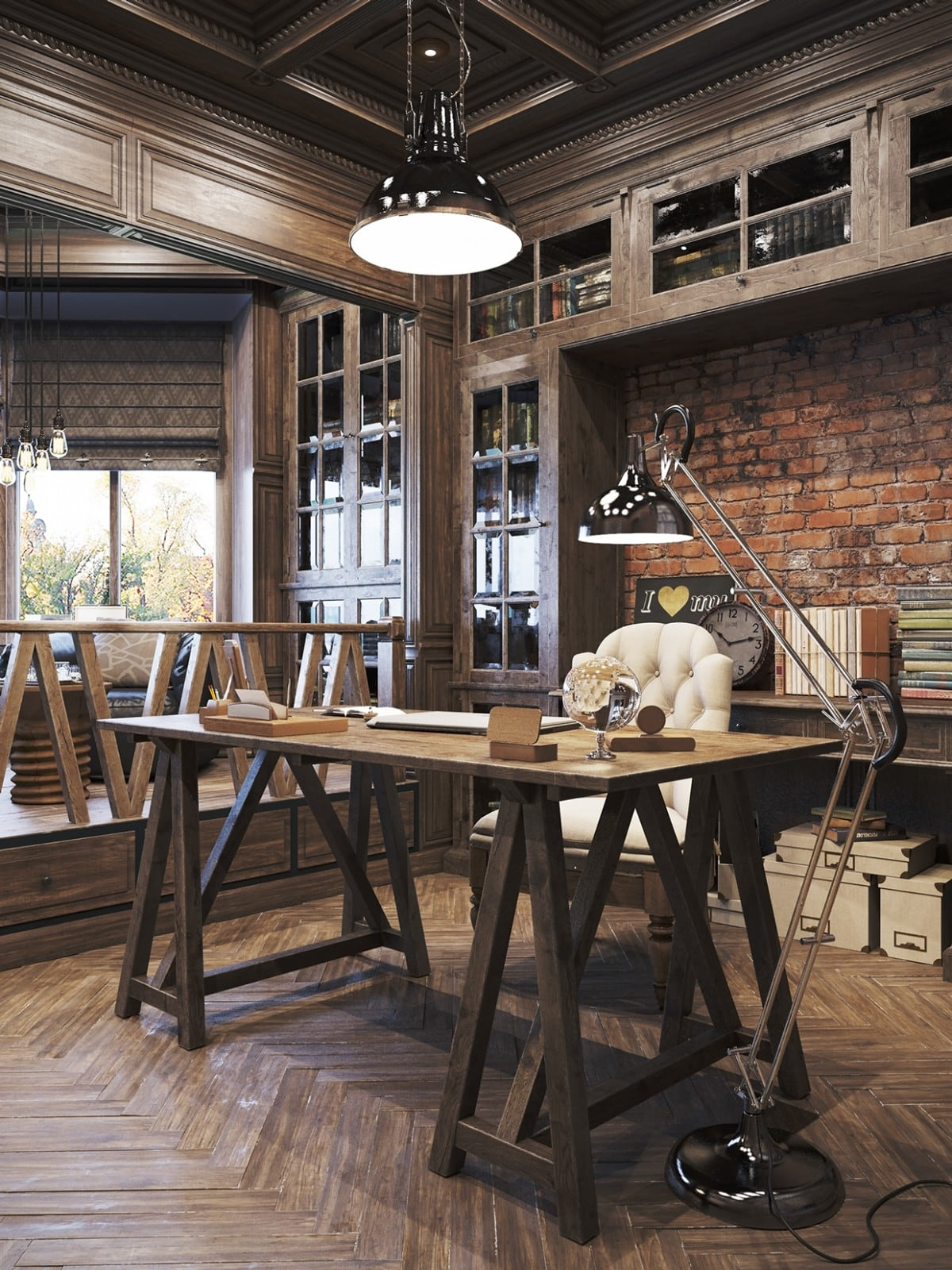 Vintage office for a private residence Denis Krasikov - www.homeworlddesign. com (7)