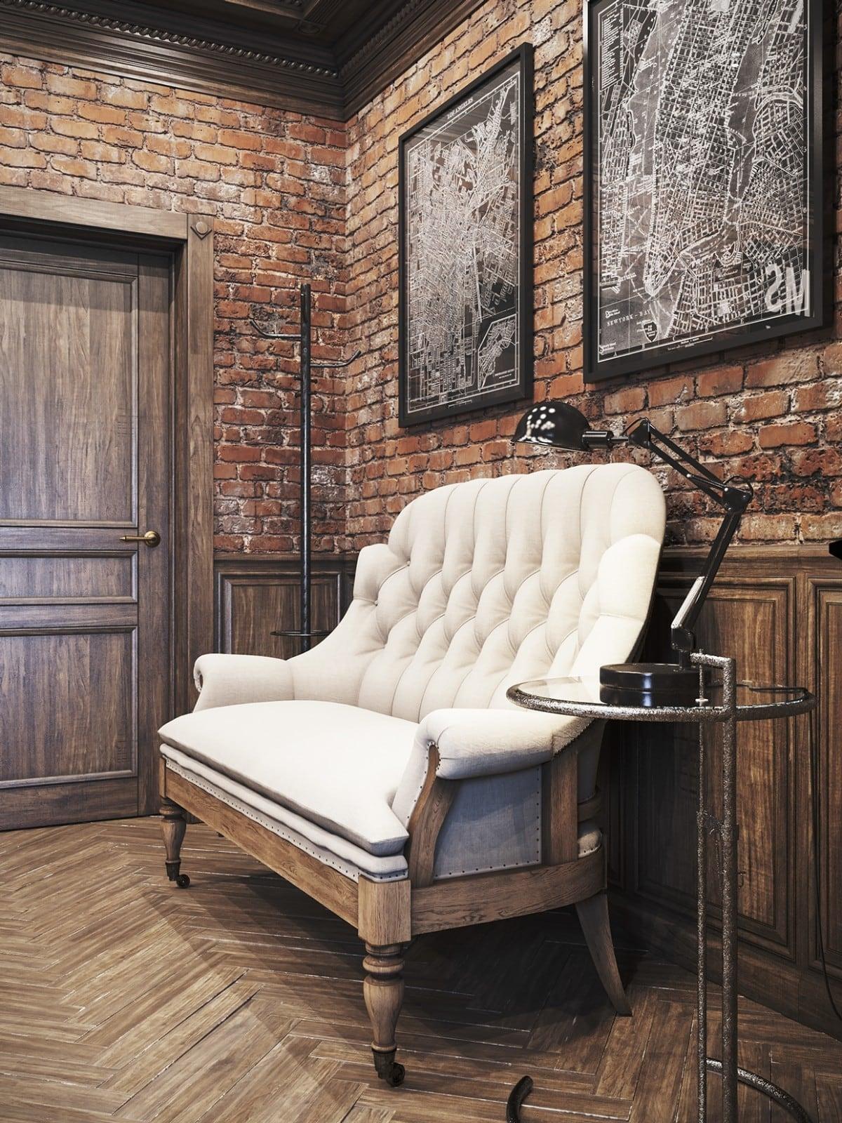 Vintage office for a private residence Denis Krasikov - www.homeworlddesign. com (8)