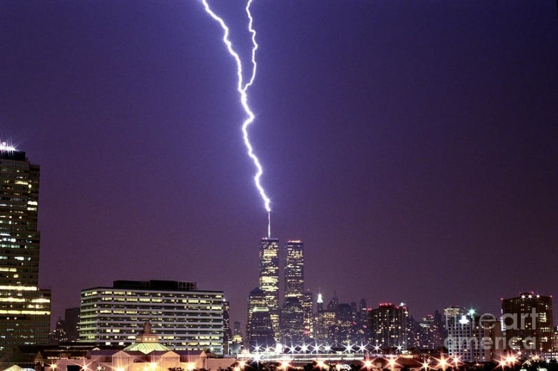 15 Most Incredible Skyscrapers Being Struck by Lightning 15