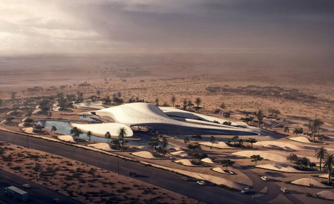 Zaha Hadid Designs Dune-Inspired Bee'ah Headquarters 1