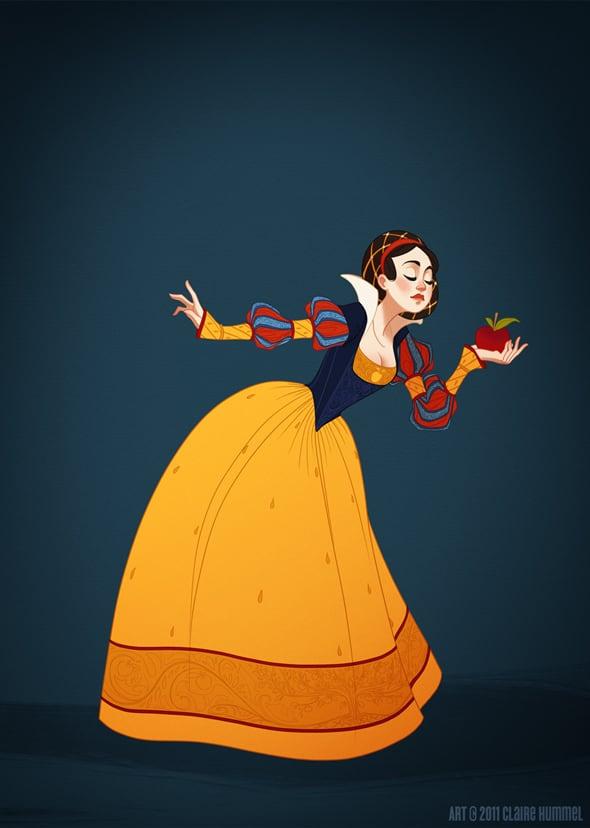 disney-princess-in-accurate-period-clothing-chicquero-fashion-snow-white
