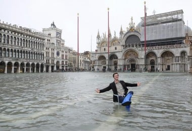 Venice Under Water During High Tide Flooding 13