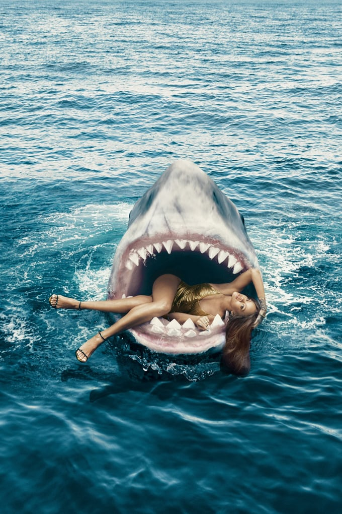 Rihanna Swims with Sharks in Harper's Bazaar 3