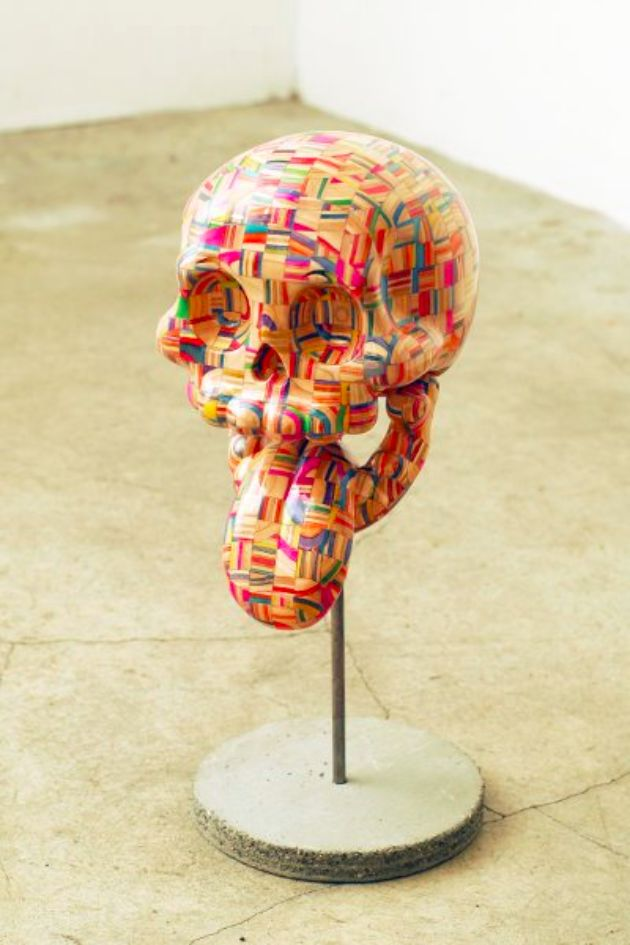 Incredible Sculptures Made of Recycled Skateboard Decks by Haroshi 12