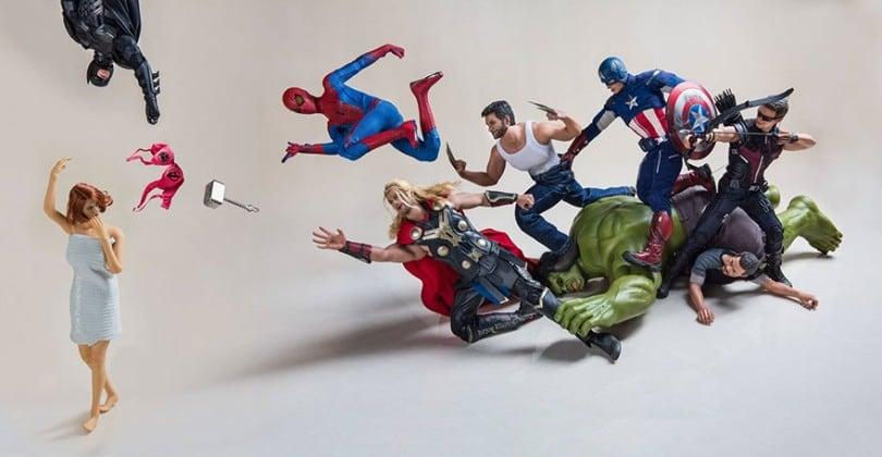 Photographs of Everyday Life of Superhero Toys 20