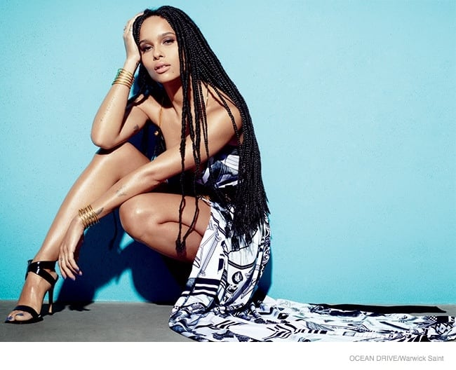 Zoe Kravitz by Warwick Saint For Ocean Drive March 2015 Issue 4