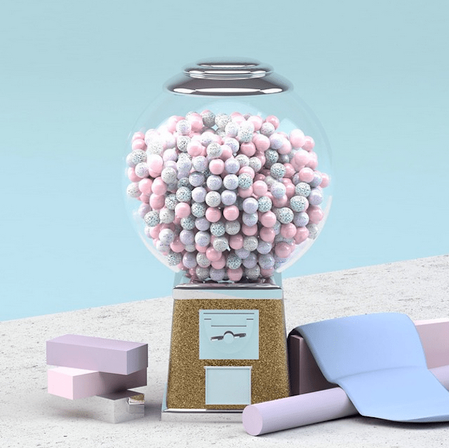 3D Pastel Colored Set Design by Anny Wang 9
