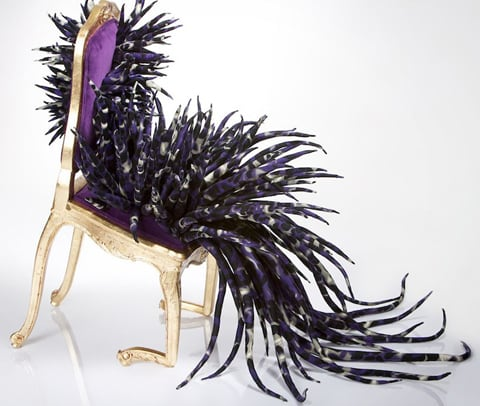 """Infectious Desires"": Soft Sculptures Of Chairs Bursting With Organic Life 9"