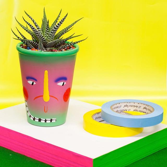 Crazy Faces Ceramic Vases by Artist Ben Sanders 15