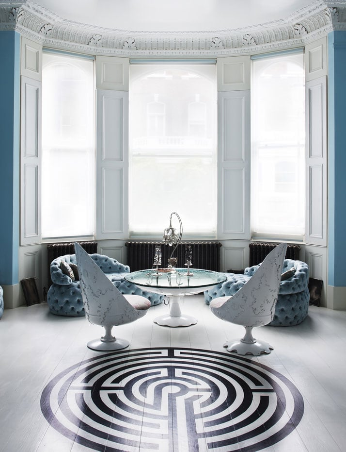 Beautiful Neo-Baroque Apartment in London of Designer Danielle Moudaber 12