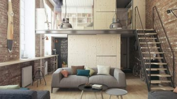 One bedroom apartment for a young couple Harukis apartment by The Goort HomeWorldDesign 1