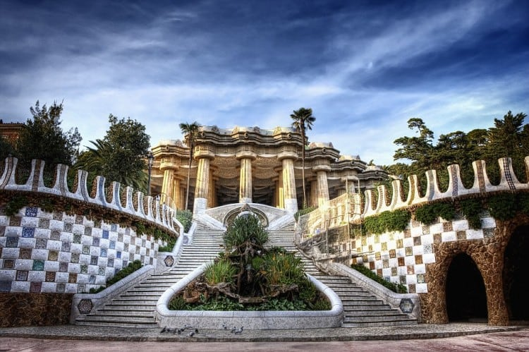 Spain 2 - Barcelona Park Guell Stairs