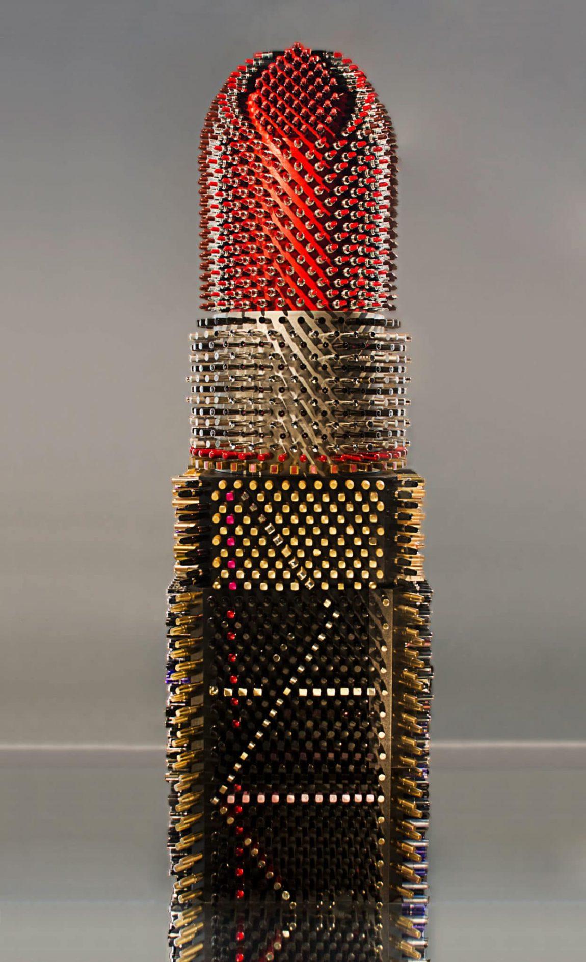 agne kisonaite art installation giant lipstick 3