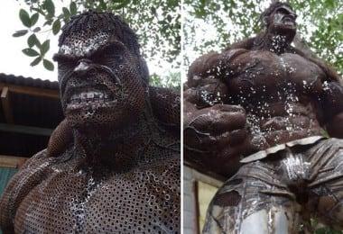 Ban Hun Lek's Amazing Scrap Metal Sculptures Of Famous Movie Characters 8