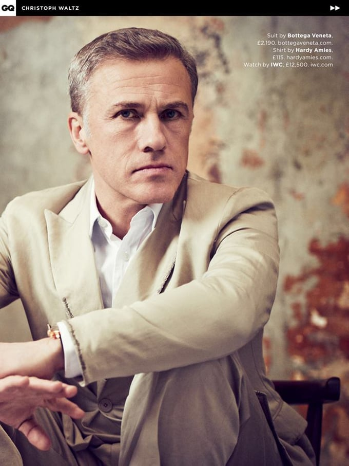 Christoph Waltz covers UK GQ May 2015 6