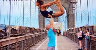 """""""Come Fly With Me"""": Gravity Defying Yoga Poses In Photos 9"""