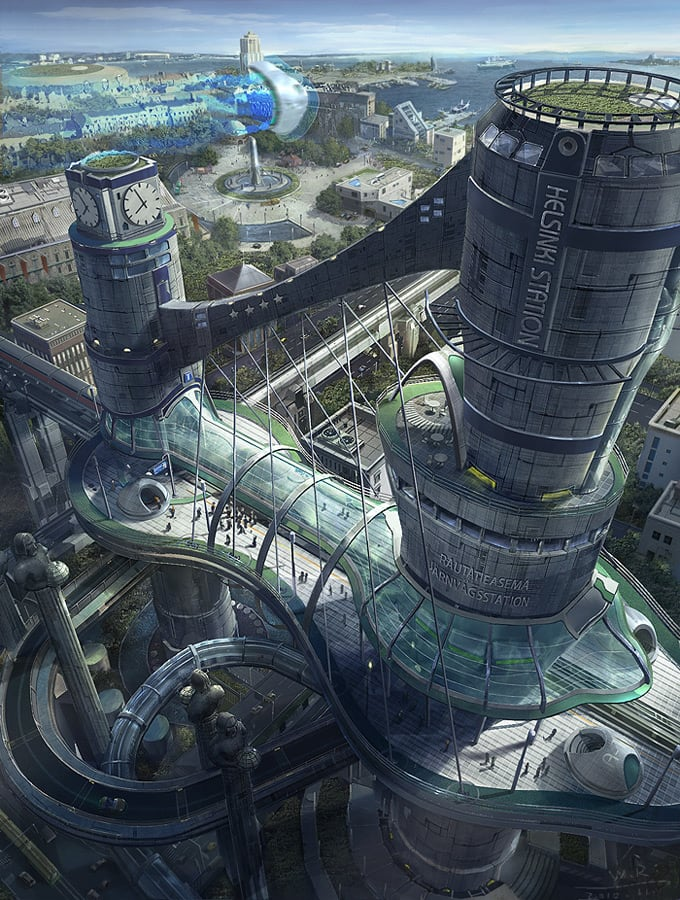 Fantastical Realms from Concept Artist Wang Rui 1