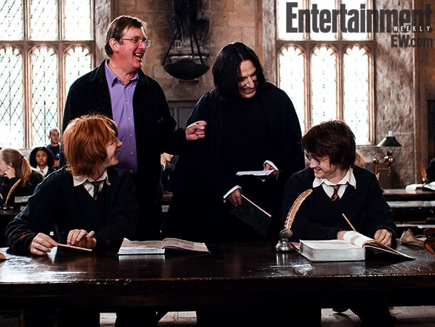 Grint, Newell, Alan Rickman, and Radcliffe, Harry Potter and the Goblet of Fire (2005) Image Credit: Murray Close