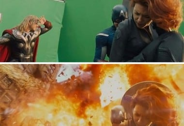 A Behind The Scenes Look At Famous Movie Scenes Created With Green Screens 5