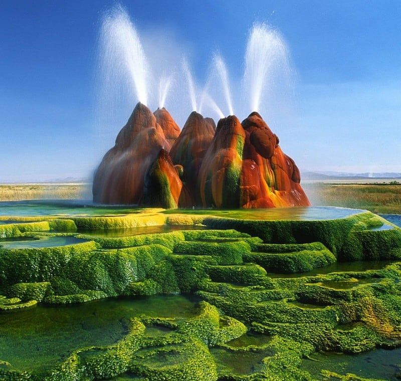 Source: Inge Johnsson {link: http://fineartamerica.com/products/green-fly-geyser-inge-johnsson-canvas-print.html}
