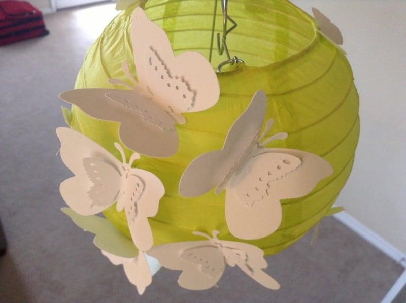 6 butterfly garden paper lantern hanging ceiling - paper lantern-f75302