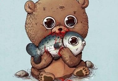 Alex-Solis-Adorable-and-Morbid-Illustrations-Of-Predators-1