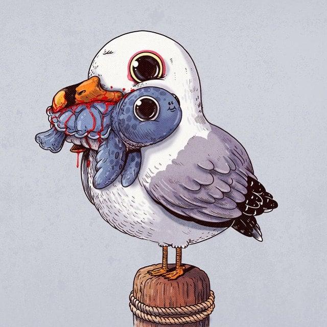 Alex-Solis-Adorable-and-Morbid-Illustrations-Of-Predators-3