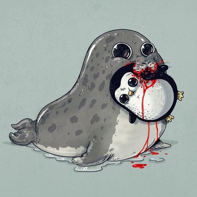 Alex-Solis-Adorable-and-Morbid-Illustrations-Of-Predators-5