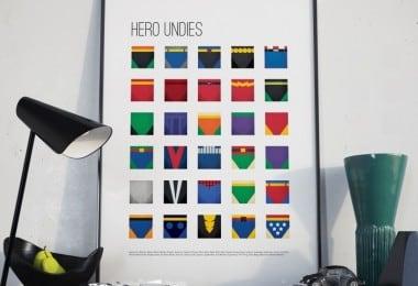 Superhero Undies Print