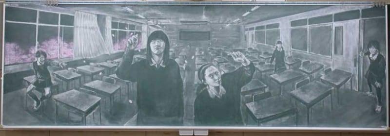 chalkboard-blackboard-art-highschool-nichigaku-japan-13