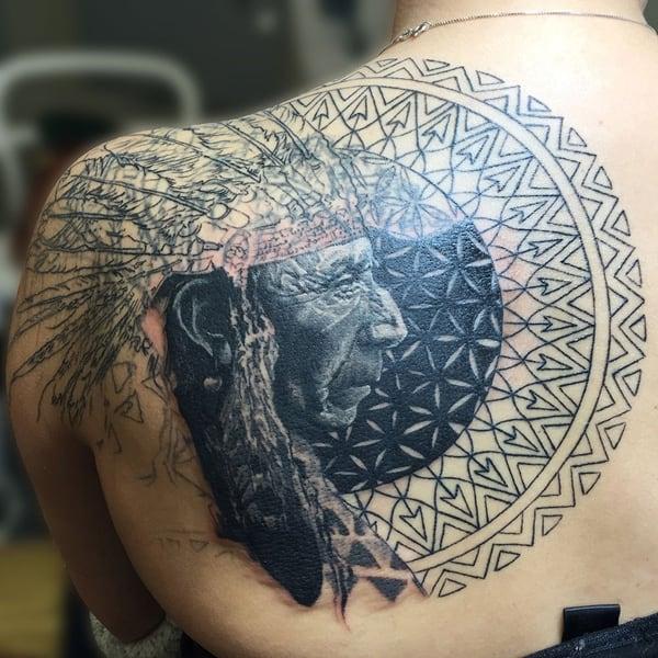 Native-American-Back-Tattoo-1