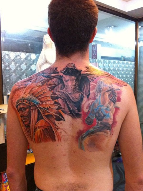 Native-American-Back-Tattoo-8