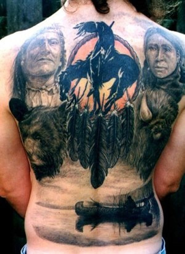 Native-American-Full-Back-Tattoo-15