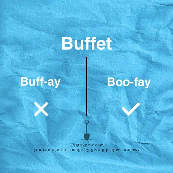 buffet-pronunciation