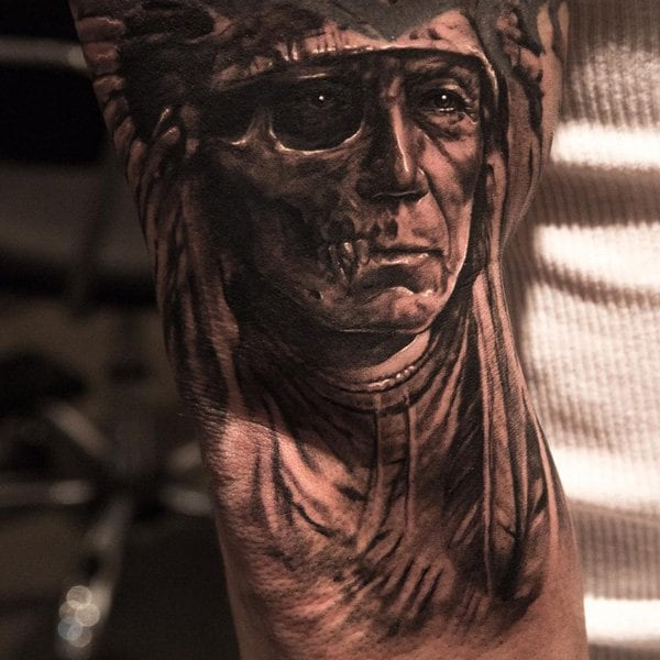 decaying man tattoo 1