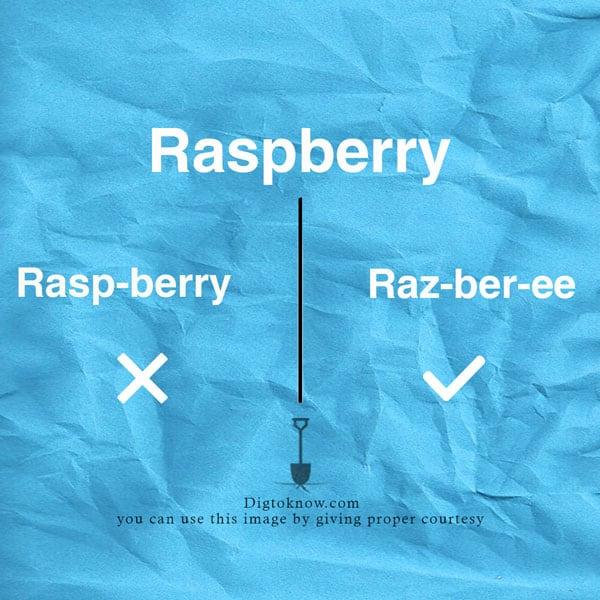 raspberry-pronunciation